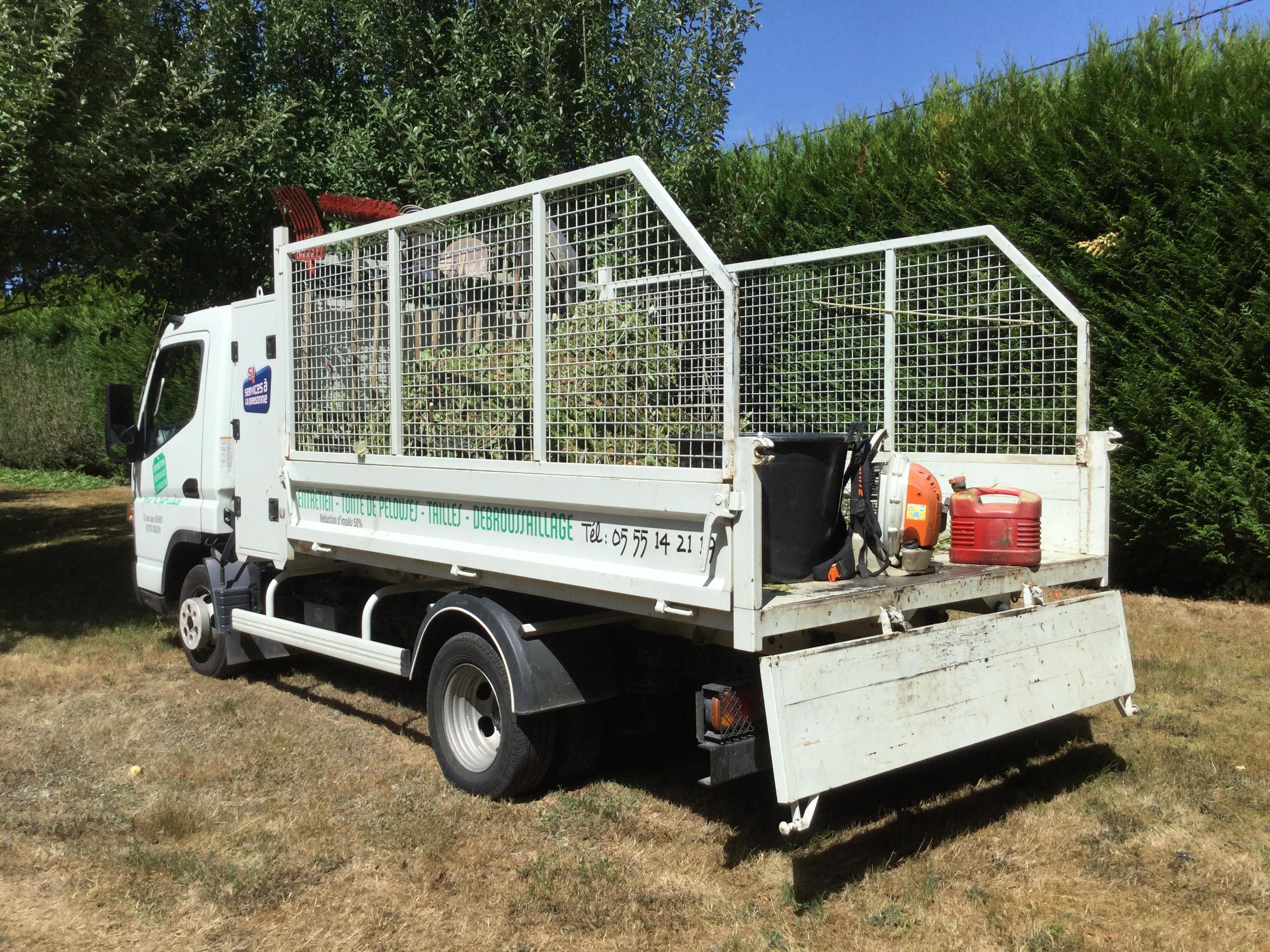 camion entretien service jardin